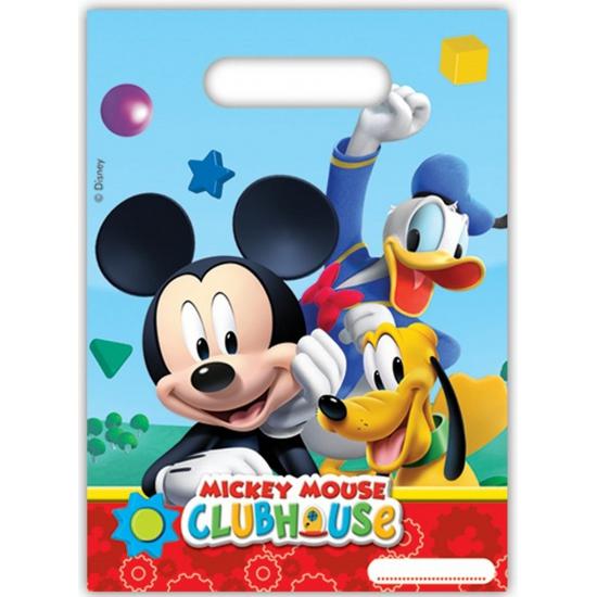 a30c199aec57 Tassen-Voordeel.nl - Mickey Mouse plastic uitdeel zakjes
